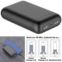 revolt USB-Powerbank mit 20 Ah, Quick Charge, PD und Super Charge, 22,5 Watt revolt Powerbanks mit Quick Charge, Super Charge & USB-C Power Delivery