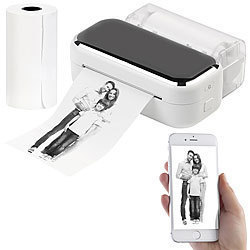 Callstel Mobiler XL Akku-Foto-Thermodrucker, Android, iOS, Bluetooth, App, 80mm Callstel