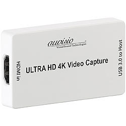 auvisio HDMI-Video-Rekorder & Streaming-Box, 4K / UHD, USB 3.0, 30 Bilder/Sek. auvisio 4K-UHD-Video-Rekorder mit HDMI und Live-Streaming