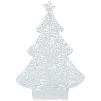 """Lunartec 3D-Leuchtmotiv """"Weihnachtsbaum"""" für Deko-LED-Lichtsockel LS-7.3D"""