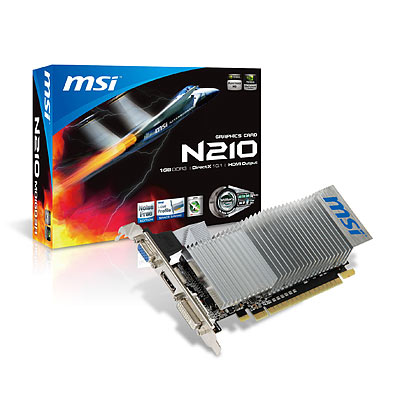 Grafikkarte MSI GeForce N210 PCI-e