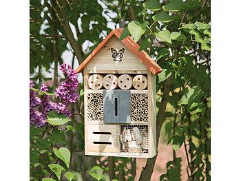 Insektenhotel und Nisthilfe für Bienen und Schmetterlinge