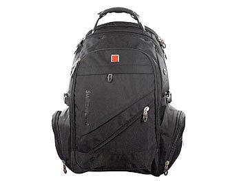 Rucksack Genius, USB- und Kopfhöreranschluss, schwarz