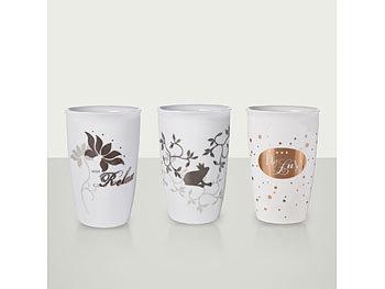 Trinkbecher Kaffeebecher Teetasse Porzellan Lifestyle von Perleberg Tee-/Kaffeetassen