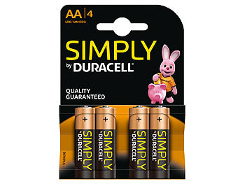 duracell simply batterien aa mignon lr6 alkaline im 4er pack. Black Bedroom Furniture Sets. Home Design Ideas