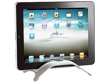 callstel geschwungener aluminium st nder f r ipad 1 ipad 2 tablet pc. Black Bedroom Furniture Sets. Home Design Ideas