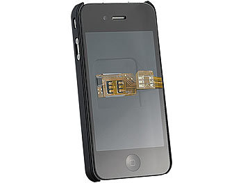 Iphone 4s Sim Karte.Callstel Iphone Dualsim Dual Sim Adapter Iphone 4 4s Mit Slot Für