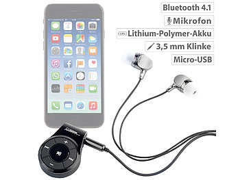 Callstel Bluetooth-3.0-Headset-Adapter mit 3,5-mm-Klinke-Anschluss & Mikrofon Callstel Bluetooth-Headset-Adapter