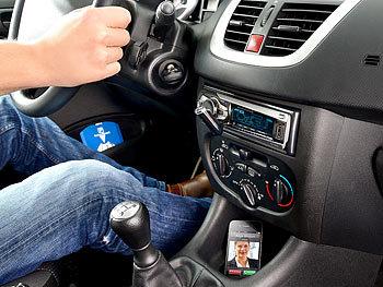 Freisprecheinrichtung, Bluetooth, MP3-Streamer, AUX, integrierter Akku / Freisprecheinrichtung