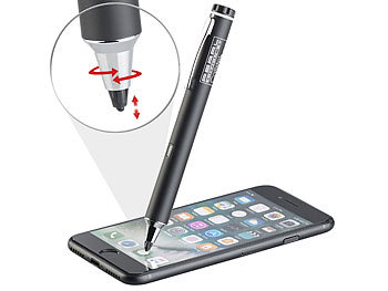 Stylus: Callstel Aktiver Touchscreen-Eingabestift für iPad, iPhone & Android, 2 mm