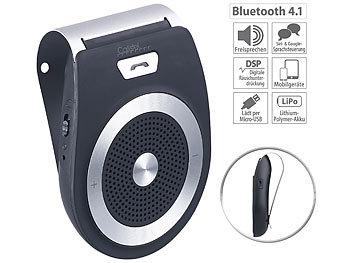 Kfz-Freisprecher mit Bluetooth & Multipoint, Siri- & Google-kompatibel / Freisprecheinrichtung