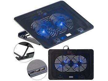 2 L/üfter 17 Callstel Laptop L/üfter: Ultraleiser Notebook-K/ühler bis 43,8 cm 15 dB Notebookk/ühler LED