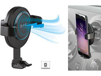 Kfz-Smartphone-Ladehalter für Lüftungsgitter, Qi-kompatibel, 2 A, 10 W 4