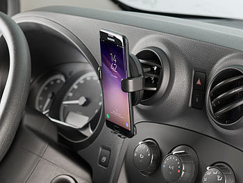 Kfz-Smartphone-Ladehalter für Lüftungsgitter, Qi-kompatibel, 2 A, 10 W 5