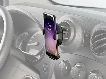 Kfz-Smartphone-Ladehalter für Lüftungsgitter, Qi-kompatibel, 2 A, 10 W 6