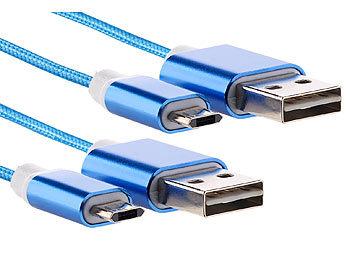 Callstel Ladekabel Samsung A5: 2er Set Lade & Datenkabel