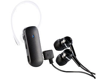 Callstel Stereo Headset XH-300 mit Bluetooth 3.0 für Musik & Telefonate Callstel Bluetooth-Mono-Headsets (In-Ear)