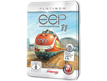 EEP Eisenbahn.exe 11 Platinum in dekorativer Metall-Reliefbox EEP Eisenbahnsimulationen (PC-Softwares)