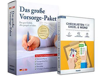 Das grosse FRANZIS Vorsorge- und Checklisten-Paket / Vorsorgepaket