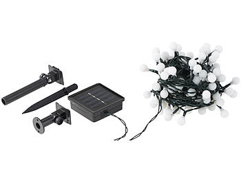 lunartec solar warmlichterketten solar led lichterkette mit 102 wei en leds 10 m ip44. Black Bedroom Furniture Sets. Home Design Ideas