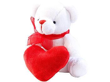 Romantisches Schmuse-Bärchen in Herzchen-Tasche / Kinder Spielzeug