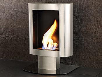carlo milano deko kaminofen bio ethanol aus edelstahl f r wand boden. Black Bedroom Furniture Sets. Home Design Ideas