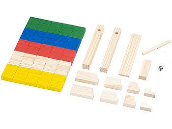 263-teiliges Domino-Set mit Holzsteinen & Action-Elementen / Domino