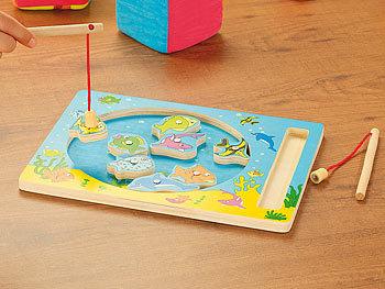 playtastic magnetisches angelspiel aus holz mit 2 angeln. Black Bedroom Furniture Sets. Home Design Ideas