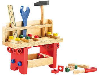 Lustige Holzwerkbank für kleine Handwerker, 51-teilig / Spielzeug
