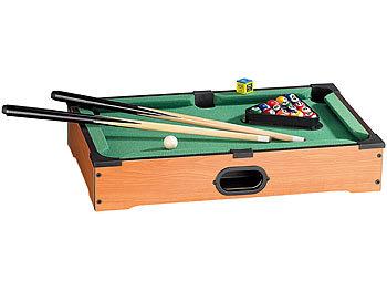 Mini Billardtisch mit 2 Queues & 16 Kugeln / Billiard