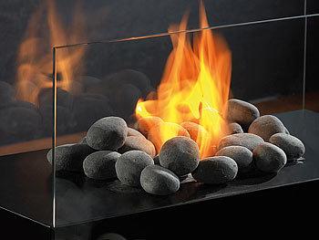 carlo milano deko steine f r bio ethanol fen grau. Black Bedroom Furniture Sets. Home Design Ideas