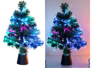 Deko-Tannenbaum, dreifarbige LED-Beleuchtung, Batteriebetrieb, 45 cm / Weihnachtsbaum