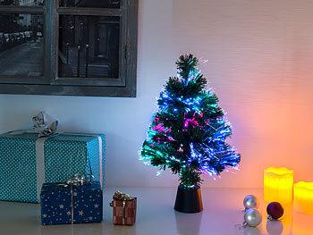 Tannenbaum Mit Beleuchtung | Lunartec Fiberglas Weihnachtsbaum Deko Tannenbaum Dreifarbige Led
