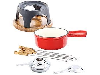 rosenstein s hne fondue topf k sefondue set aus emailliertem gusseisen 16 cm fondue caquelon. Black Bedroom Furniture Sets. Home Design Ideas