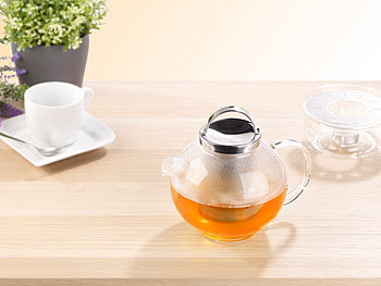 Cucina Di Modena Teekanne Mit Stövchen Tee Set Aus Glaskanne 15 L