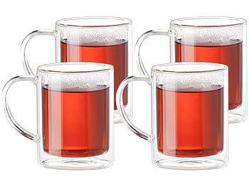 200 ml Doppelwandige Glas Tee Kaffeetasse hitzebeständige Tassen Glas Griff