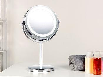 sichler beauty led spiegel stand kosmetikspiegel mit 18 led 3 fache vergr erung beauty spiegel. Black Bedroom Furniture Sets. Home Design Ideas