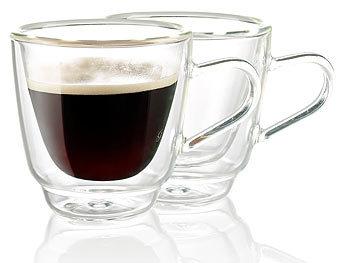 cucina di modena espressotassen doppelwandige espresso tassen aus glas 2er set espressotassen. Black Bedroom Furniture Sets. Home Design Ideas