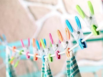 72 Wäscheklammern mit Soft Grip Kunststoff Wäsche Klammer Wäscheklammern