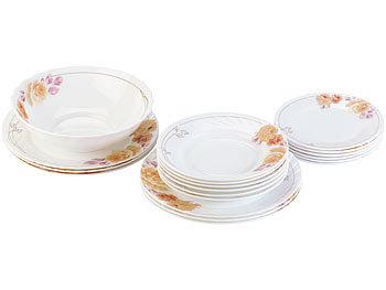 Kombi Geschirr Set rosenstein & söhne geschirr set: opalglas- kombi-service mit
