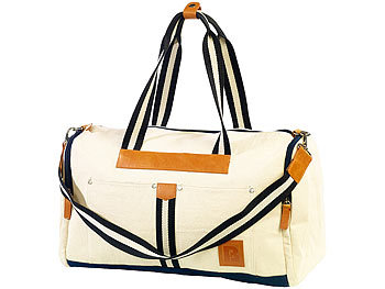 Canvas-Strandtasche/ Freizeittasche, weiss / Reisetaschen