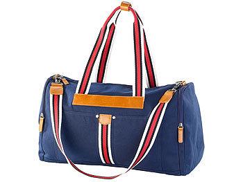 Canvas-Strandtasche/ Freizeittasche, blau / Strandtasche