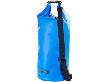 Wasserdichter Packsack 25 Liter, blau, aus strapazierfähiger Lkw-Plane / Packsack