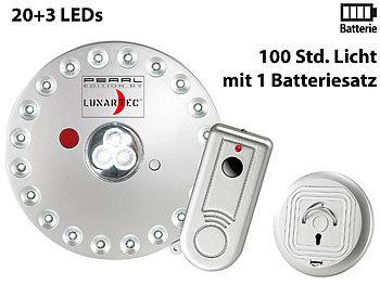 Lunartec Lampen Fernbedienung: Rundleuchte mit 20+3 LEDs