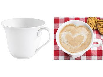 Porzellan-Tasse in Herzform / Tassen