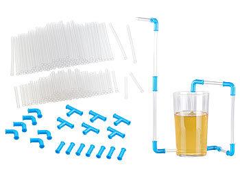 Trinkhalm-Bausatz mit 200 Teilen, wiederverwendbar / Trinkhalm Bausatz
