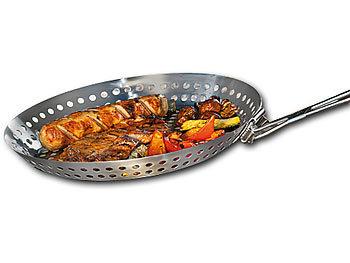 Grillpfanne Für Holzkohlegrill : Rosenstein söhne grillpfanne mit löchern grillpfanne aus
