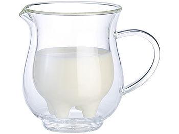 Doppelwandiges Milchkännchen im witzigen Euterdesign, 200 ml / Milchkanne