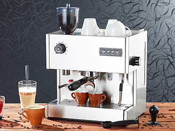 cucina di modena espresso kaffeemaschine siebtr ger espressomaschine es mit mahlwerk. Black Bedroom Furniture Sets. Home Design Ideas