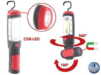 lunartec led handlampe schwenkbare arbeitsleuchte mit cob led neodym magnet 3w 180lm ipx4. Black Bedroom Furniture Sets. Home Design Ideas